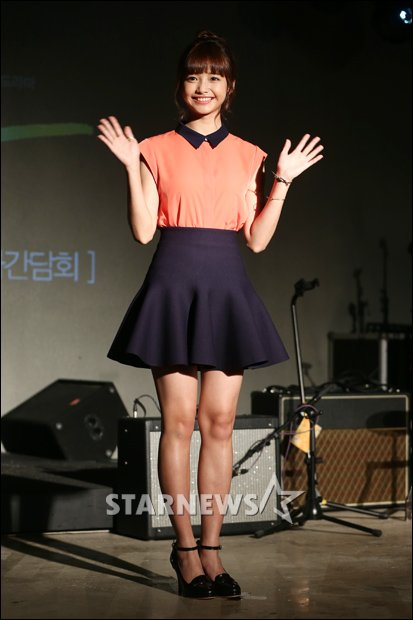 Juli  di konferensi pers drama tvN    Monstar    dimana Ha Yeon Soo    Ha Yeon Soo Monstar