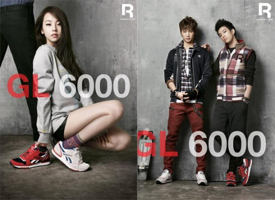 Sohee-and-JJ-Project-model-for-Reebok-s-GL-6000-series
