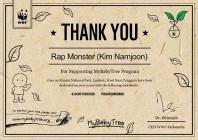 E-Certificate Rap Monster (Kim Namjoon)01-00