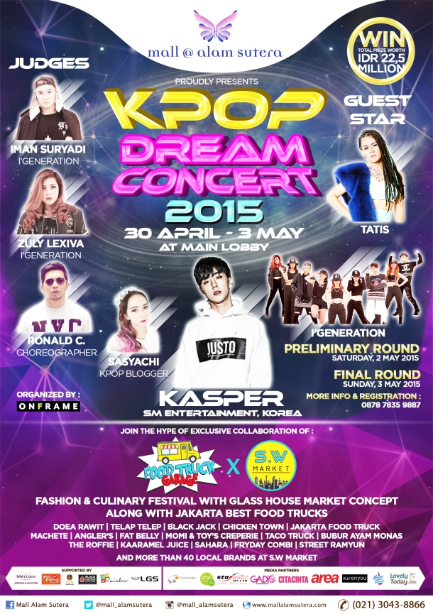 Kpop Dream Concert 2015 Flyer A5